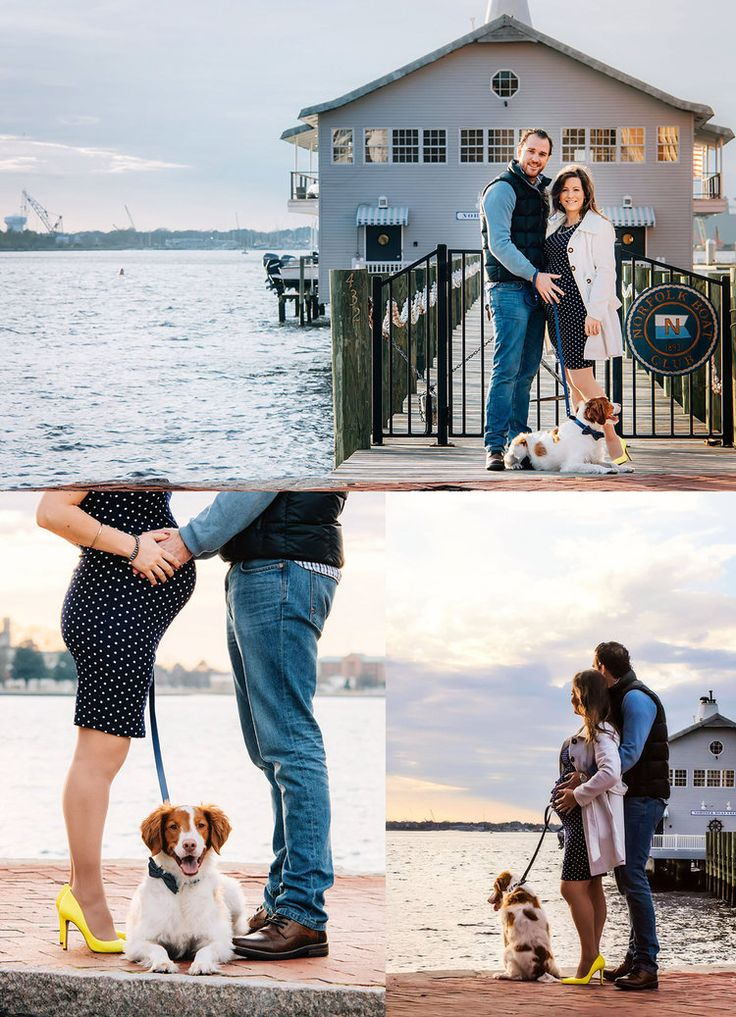 Freemason Waterside district urban  couples maternity photo session with Brittany Spaniel in Norfolk, VA by Melissa Bliss Photography
