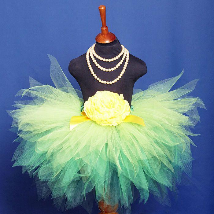 """Одежда для девочек, ручной работы. Ярмарка Мастеров - ручная работа """"Принцесса эльфов Зеленая"""" пышная юбка-пачка из фатина. Handmade."""