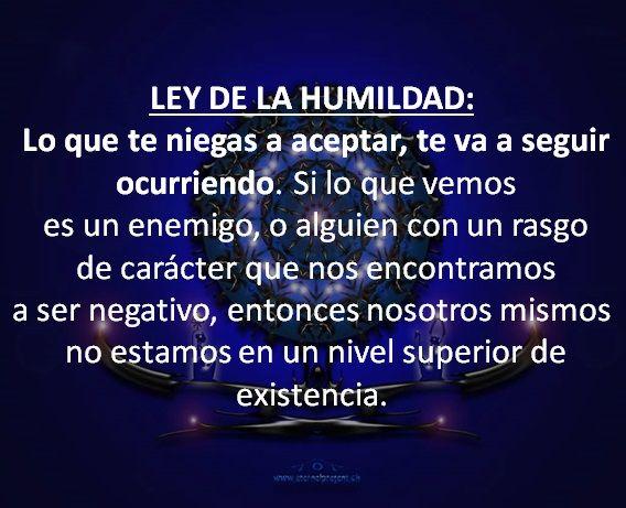 Las 12 Leyes del Karma. (3) Ley de la Humildad.