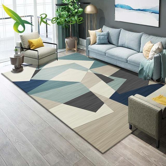 Sale Us 4 39 Carpet Rug Geometric Bedroom Living Room Washable Modern Printing Winter And Parlor Decora In 2020 Rugs In Living Room Geometric Floor Rugs On Carpet