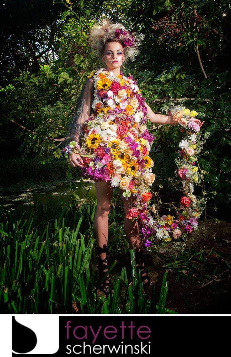 Flora Flower Fashion by Fayette Scherwinski. Photography by Craig Anderson.