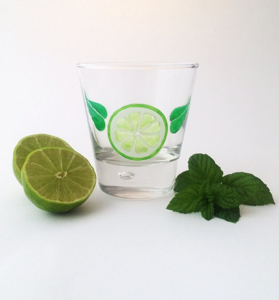 The Perfect Mojito Glass by ToastedGlass on Etsy, £8.00