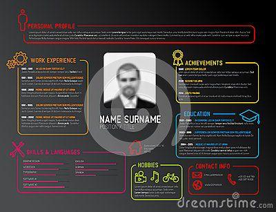 7 best cv images on Pinterest Cv resume template, Stock - stock resume