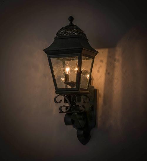 "9""W Arnette Lantern Victorian Outdoor Wall Sconce"