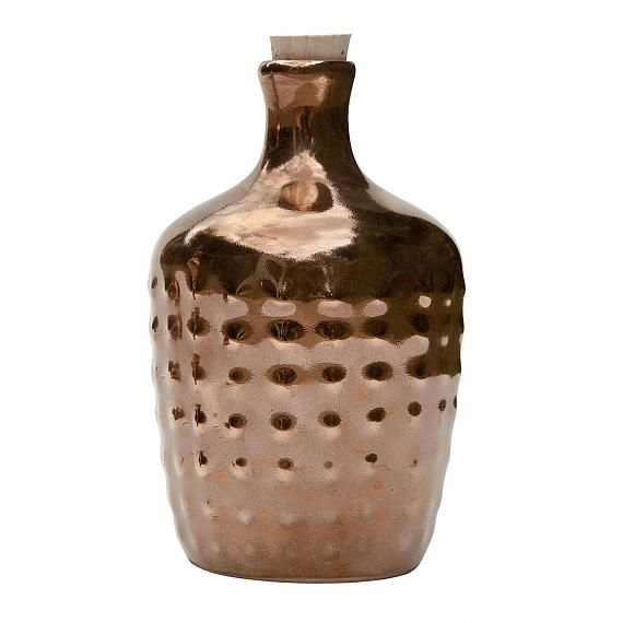 Limited Edition Gold Polka Ceramic Bottle designed in Australia by LoveHate (photo copyright Carolyn Price, indie art & design)