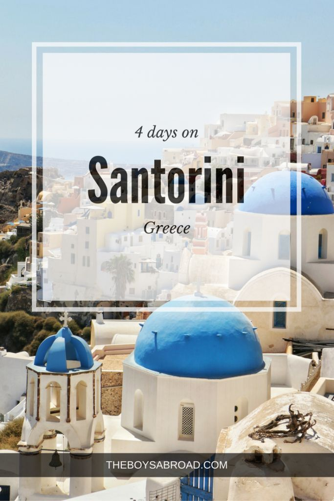 A guide on how to spend 4 days on Santorini.  #Oia #Santorini #Greece