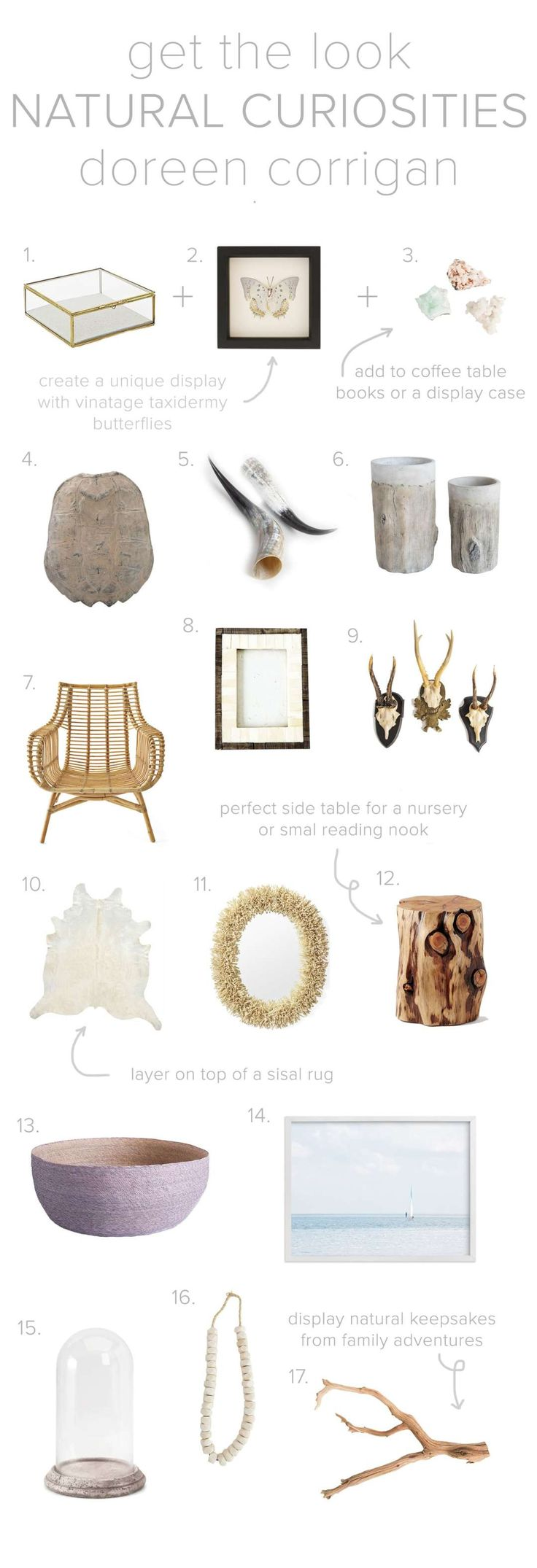 Thoughtfully display your natural finds for a creative and personal coastal look