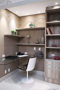 Home office em espaços pequenos - Revista Casa Linda