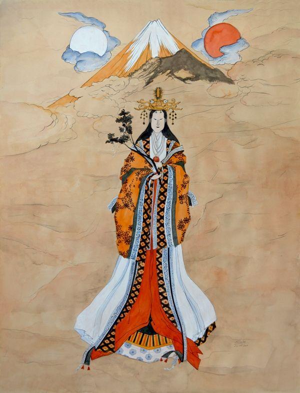 FUJI GODDESS 2011 watercolour on paper, 50x70 cm