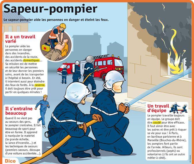 Bien-aimé 45 best Pompiers images on Pinterest | Fire safety crafts, School  DL45