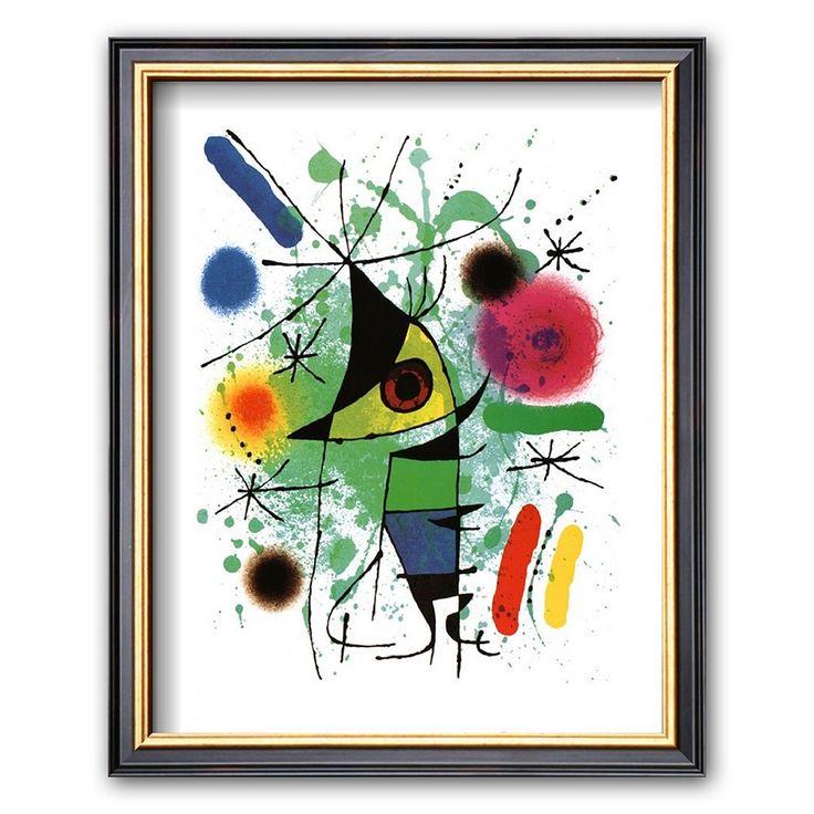 Art.com The Singing Fish Framed Art Print by Joan Miró, Multicolor