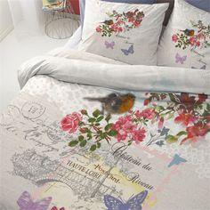Cinderella Riveau dekbedovertrek - www.smulderstextiel.nl - #lente #seizoen #voorjaar #bedding #beddengoed #dekbedovertrek #laken #vogel #flowers #bloemen #dessin #slaapkamer #bedroom #interior