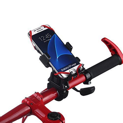 isYoung Bike Mount Phone Clips 360 Degrees Rotating for Mountain Bike, Handlebar & Motorcycle Phone Holder Wraps around Multiple SmartPhone GPS Security - http://www.exercisejoy.com/isyoung-bike-mount-phone-clips-360-degrees-rotating-for-mountain-bike-handlebar-motorcycle-phone-holder-wraps-around-multiple-smartphone-gps-security/cycling/