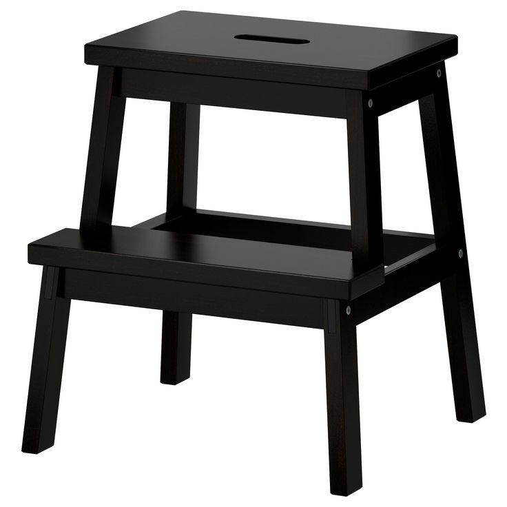 BEKVÄM Step stool - black - IKEA