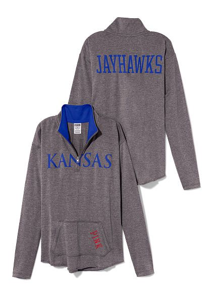 University of Kansas Raw Half-zip Pullover #PINKYourBTS