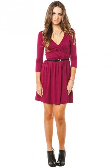 Wrap dresses burgundy and dress in on pinterest