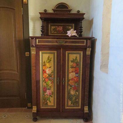 Комод антикварный реставрированный расписной.Мебель антикварная.
