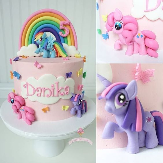 My little Pony cake! 5 mold from @Christines Molds Cloud cutters from @jb_cookie_cutters