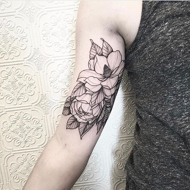 WEBSTA @ black_iris_tattoo - Magnolia composition by @johno_tattooer