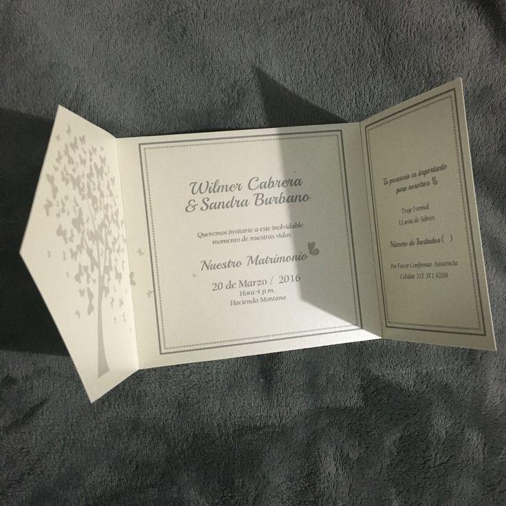 Tarjeta de Matrimonio Elegante por #ViCani_Design