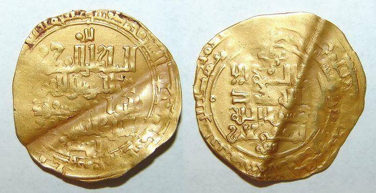 Gold Dinar Khwarizmshah Atsiz, Khwarizm 543, citing western Seljuq Mas'ud and caliph. RRRR 650$.
