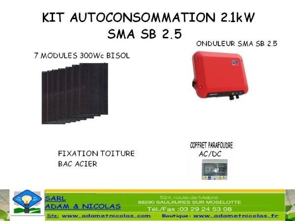- Kit Photovoltaique Auto consommation 2.1 kWc Vente en ligne panneaux solaires Vosges - kits photovoltaïques - Installer Panneau Materiel Solaire