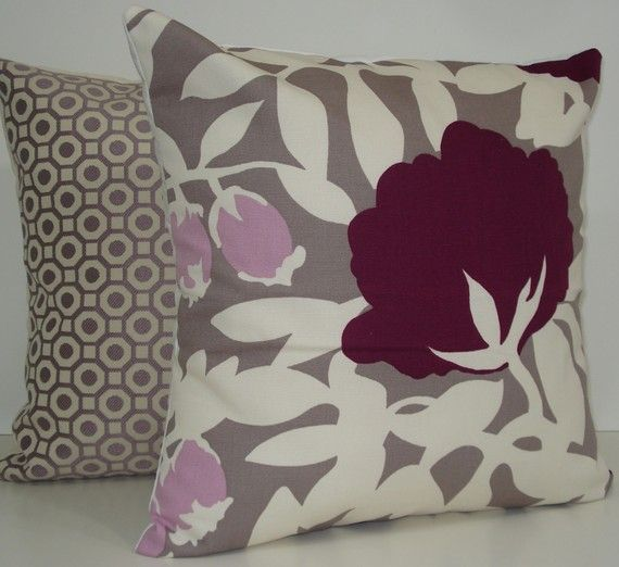 hmm...purple and gray for our bedroom....
