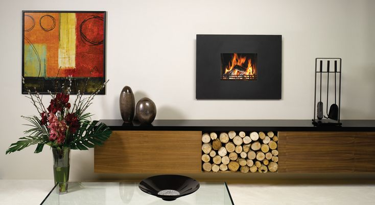 Riva Contemporary Wood Burning - Stovax Open Convector Fires
