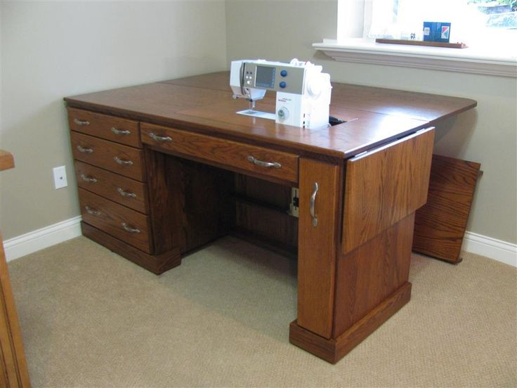 Custom Built Oak Sewing Cabinet. Built According To Customers Size And  Design Specifications. Features