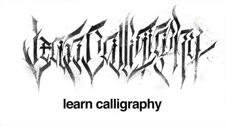 Modern calligraphy alphabet fonts google search