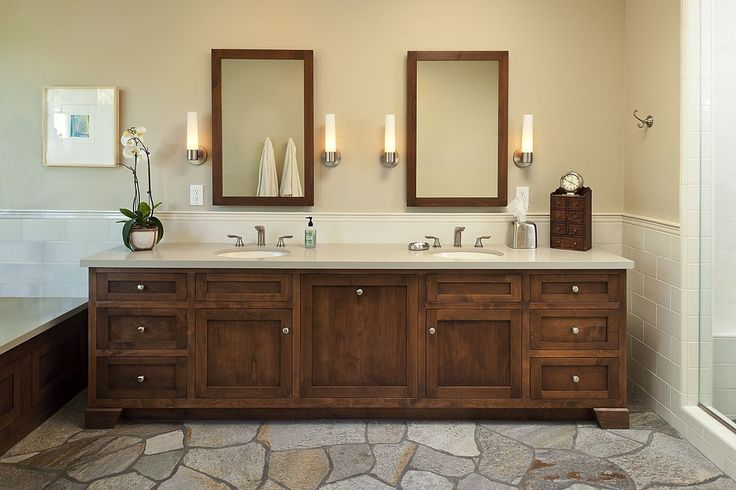 Simple Master Bathroom Designs: Craftsman Master Bathroom With Master Bathroom, Standard