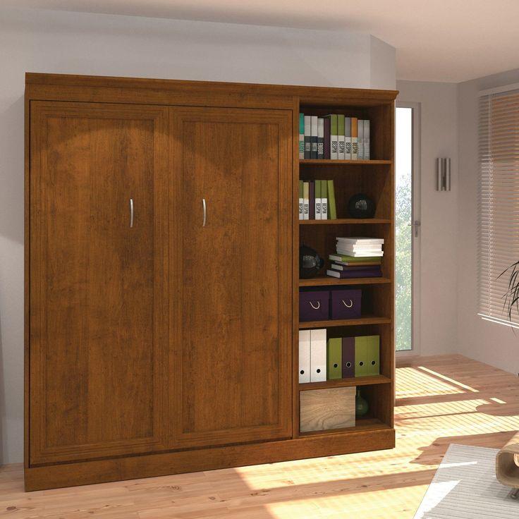Best Bestar Versatile Murphy Wall Bed With 5 Shelf Attached 640 x 480