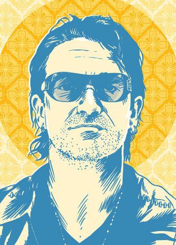 Bono Pop Art Print 13x19 by RedRobotCreative on Etsy, $25.00