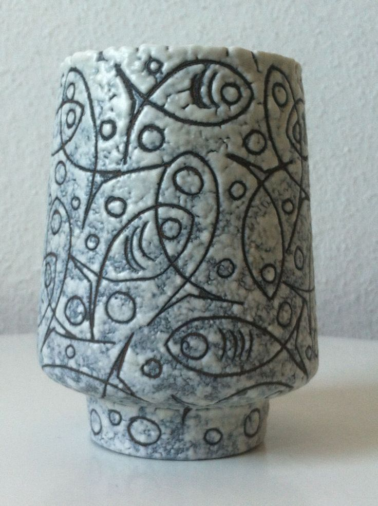 Ruscha Filigran Vase Adele Bolz 60s 50er 50s pottery ceramics wgp Fat Lava 60er