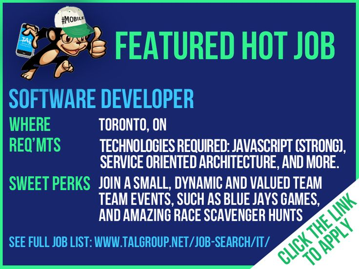 Hiring a Software Developer in Toronto, ON! This is a