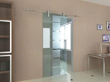 Modern barn door hardware for glass door contemporary interior doors