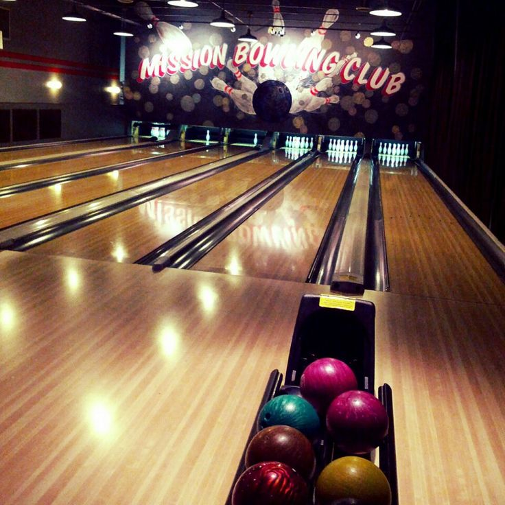 Hip bowling alley with a great restaurant inside.