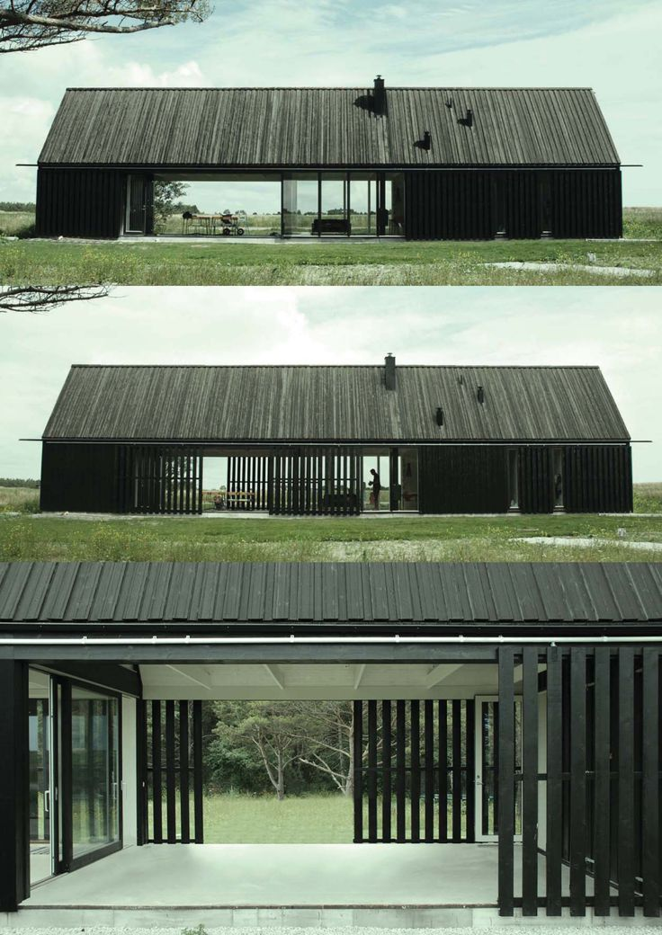 Gotland Summer House, by Jens Enflo (Enflo) & Morten Vedelsbøl (DEVE), 2011 Love the moveable privacy wall of courtyard and simple shape of architecture.