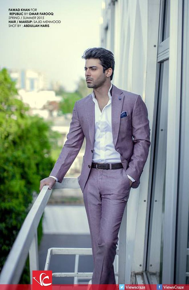 Fawad Khan for SS'15 Collection of Republic by Omar Farooq