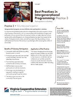 Best Practices in Intergenerational Programming: Practice 3