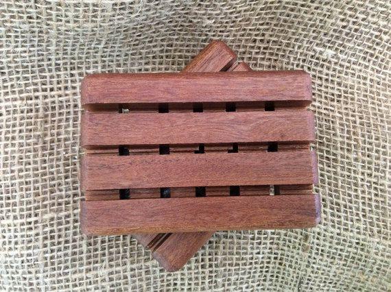 Mahogany Soap Dish, wood soap dish, wooden, soap deck, soap tray, soap saver, drain