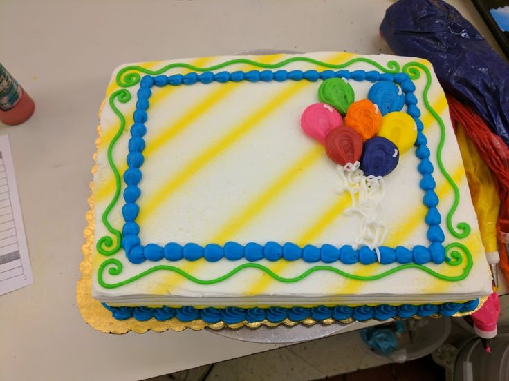 Best 25 sheet cake designs ideas on pinterest sheet for Balloon cake decoration
