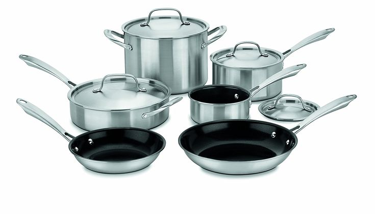 Cuisinart GGT-10 GreenGourmet Tri-Ply Stainless 10-Piece Cookware Set * Click image for more details.