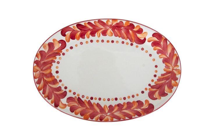 Azulina Ceramics - Amapola Oval Serving Platter