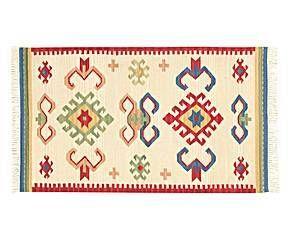 Alfombra de lana tejida a mano Kilim Nomad Harsha - 200x150 cm