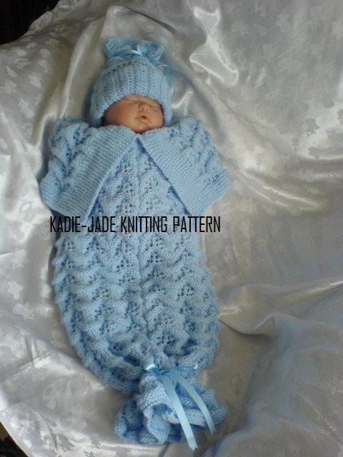 No 71 KADIE-JADE KNITTING PATTERN ~ fantastic way to bring baby home for hospital ~ newborn size ~ KNIT ~ so adorable!
