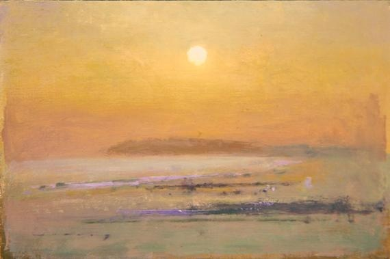 Camber Sands blue sun, by Fred Cuming (20th Century)