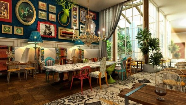 Luxury eclectic interior design