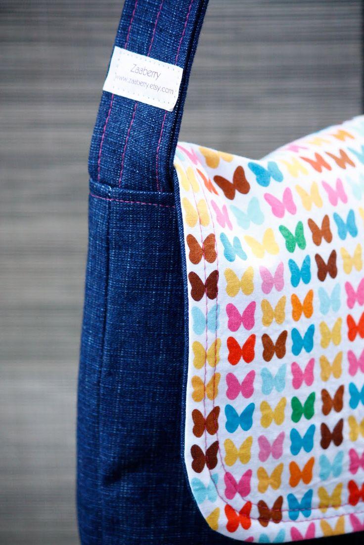 Zaaberry: Kid's Messenger Bag Tutorial -easy!  For girl or boy