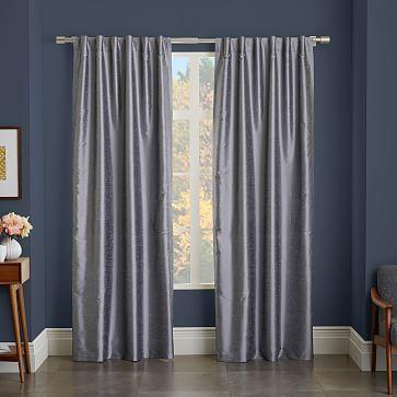 Greenwich Curtain + Blackout Liner - Platinum #westelm